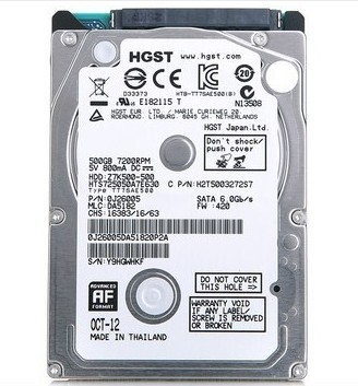 Ổ cứng laptop 2.5 inch 500Gb  SATA HGST