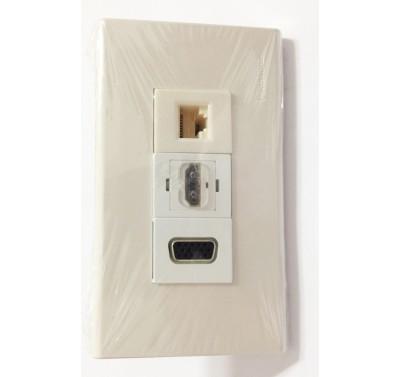 Bộ Wall Plate HDMI VGA LAN Cao Cấp
