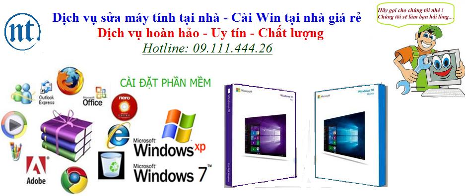 Cài win máy tính, sửa mạng, sửa dây điện thoại tại Bạch Mai