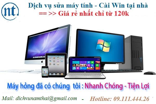 Cài win máy tính, sửa mạng, sửa dây điện thoại tại Đại Cồ Việt