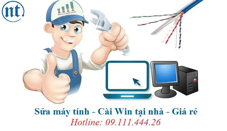Cài win máy tính, sửa mạng, sửa dây điện thoại tại Lãng Yên