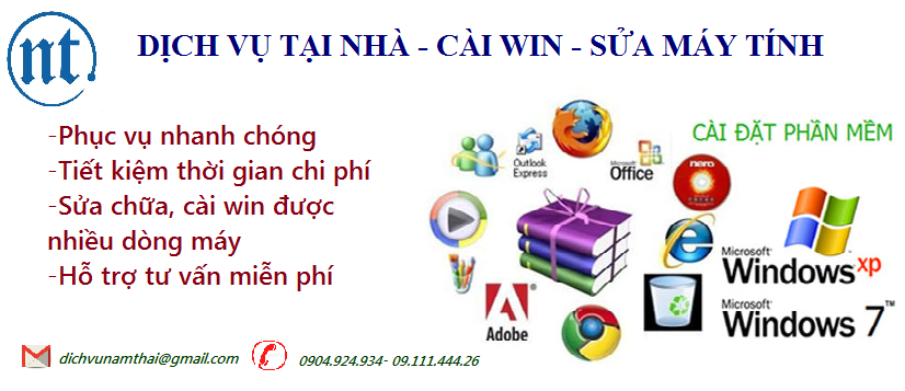 Cài win máy tính, sửa mạng, sửa dây điện thoại tại Mễ Trì Thượng