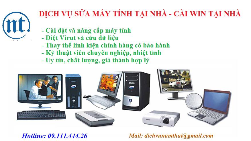 Cài win máy tính, sửa mạng, sửa dây điện thoại tại Phú Đô