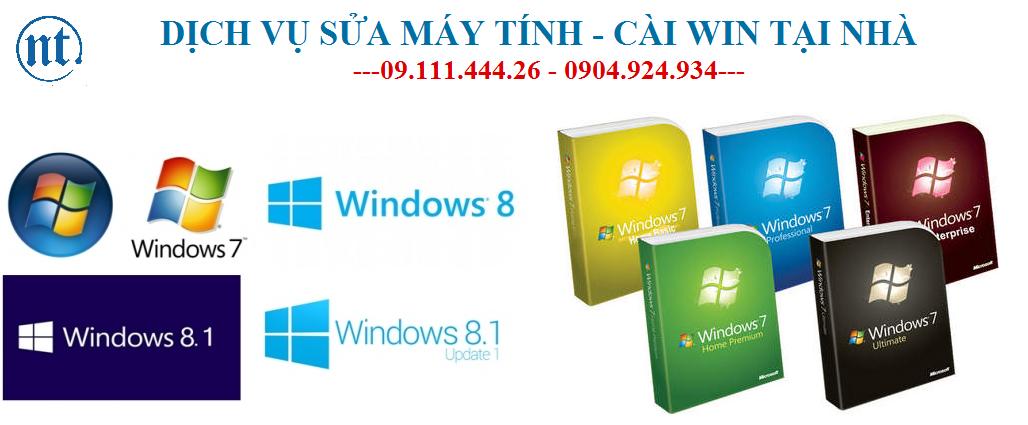 Cài win máy tính, sửa mạng, sửa dây điện thoại tại Yên Hòa