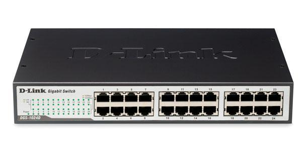 Dlink DES-1024D/E- 24 cổng (10/100Mbps, vỏ kim loại)
