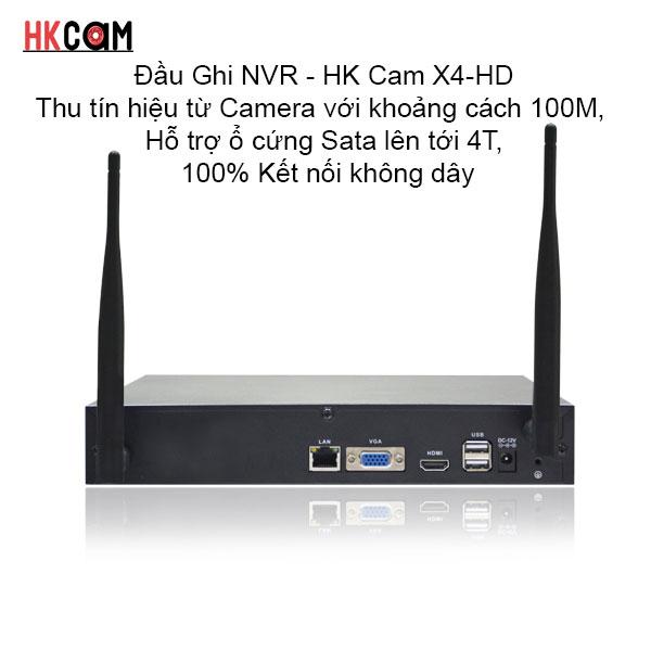 HKcam X4-HD Bộ Đầu Ghi WIFI NVR