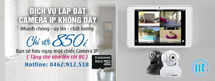 Nam Thái chuyên thi công lắp đặt camera giá rẻ nhất tại Hà Nội