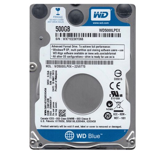 Ổ cứng laptop 2.5 inch 500Gb SATA WD
