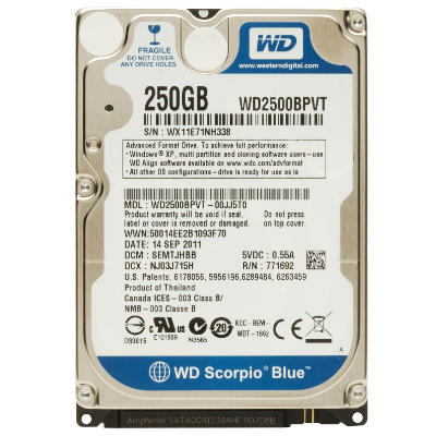 Ổ cứng laptop 2.5inch 250GB SATA WD