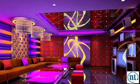 Thi công hệ thống điện chiếu sáng cho quán Karaoke