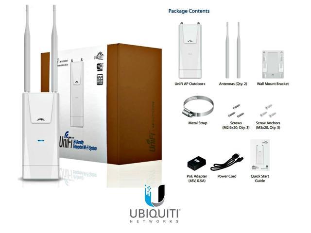 Ubiquiti UniFi AP Outdoor Plus - Hàng USA. Lắp đặt ngoài trời, Phủ sóng Rộng, Chịu tải 100 user.
